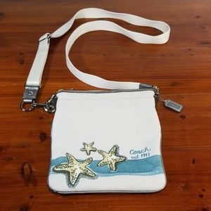 Coach Starfish Purse Blur Canvas Cross Body Bag